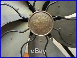 Antique 1919 16 Emerson 6 Brass Blades 3 Speed Working Fan