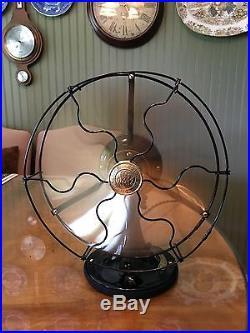 Antique 1920 GE 9 Brass Blade General Electric Stationary Fan RESTORED