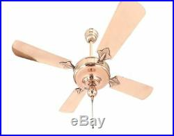 Antique 1920 Westinghouse Electric Sidewinder Ceiling Fan Restored Copper Finish