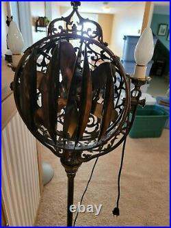 Antique 1920's Victor Luminaire Electric Funeral Parlor Fan Lamp