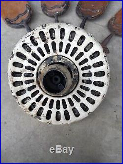 Antique 1920s Electric Ceiling Fan W Blades HUNTER FAN and MOTOR CO Cast Iron