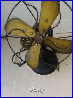 Antique 1920s Polar Cub type H electric fan art deco black 7 Works
