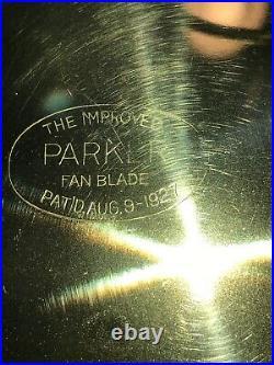 Antique 1920s Vintage Emerson Brass Blade Electric Fan 3-Speed restored Black