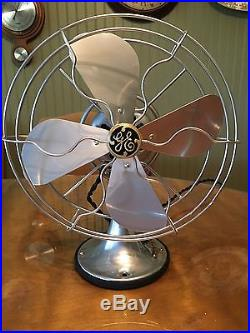 Antique 1930 GE 10 General Electric Desk Fan RESTORED