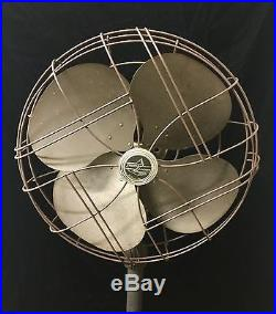 Antique 1940'S Emerson Electric 12 Pedestal Fan 77648-Sq