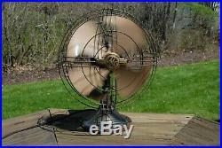 Antique 1947 General Electric 3 Speed Oscillating Desk Fan! Works! Original