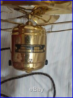 Antique 8 all-brass Westinghouse Electric Fan Circa 1909