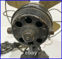 Antique AC Gilbert POLAR CUB TYPE G Miniature Brass Blade Electric Mini Fan