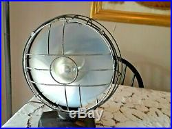 Antique Art Deco Emerson Silver Swan Oscillating Electric Fan 10 Blade, Works