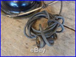 Antique Brass Blade & Cage Robbins & Myers Oscillating Elec Fan Vtg Industrial