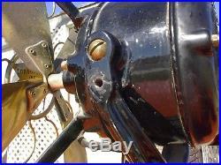 Antique Brass Blade Fan Robbins & Myers 107988 Needs Work & Repair, Is Running