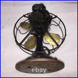 Antique Brass Blade ROBBINS & MYERS 3 Speed OSILATING FAN, CAST IRON, ART DECO