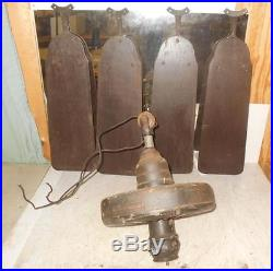 Antique Ceiling Fan Motor GENERAL ELECTRIC TYPE AH WITH ORGINIAL BLADES