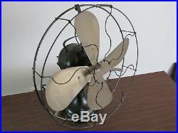 Antique Century Brass Blade Fan S3 16 F1 Pat. Date 1914 16 Electric Fan Working