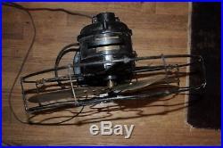 Antique Century Brass Heavy Electric Fan Outstanding Model 260 No. H9 -S3C Old