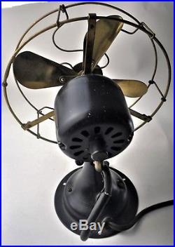 Antique Colonial 8-inch Brass Electric Fan- Ca. 1909