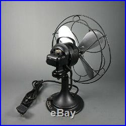 Antique DELCO Appliance Corp. Oscillating One Speed Fan Model 1500 Works