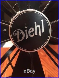 Antique Diehl Oscillating Electric Fan Vintage