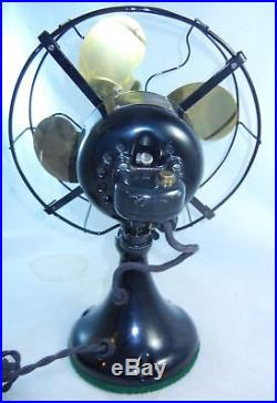 Antique EMERSON Model 29645 10 Fan Oscillating 3 Speed Mis-Tagged Orig Finish