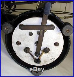 Antique Electric Colonial Fan & Motor Co. 8 Brass Blade Fan Heavy C / I Base