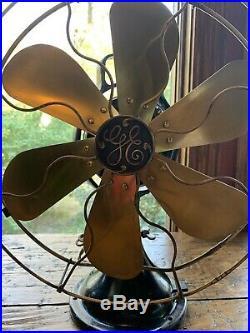 Antique Electric Fan Brass Blade 2-Star