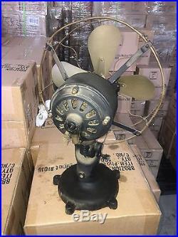 Antique Electric Fan, Peerless Tab-Foot Electric Fan, Brass Blade Fan