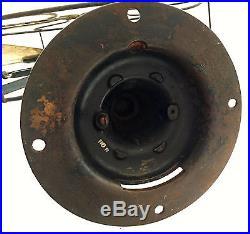 Antique Emerson 16 Table Fan Brass Blade 12648 Pancake Motor Pie Crust Base RST