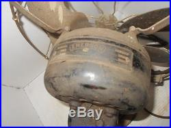 Antique Emerson 731109 Type 21666 brass blade & brass cage oscillating fan