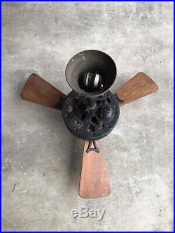 Antique Emerson Ceiling Fan 32 3-Blade #35661 Works