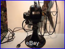 Antique Emerson Electric Fan 29646 Brass Blades, 3 Speed, Oscillating- Runs