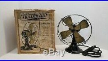 Antique Emerson Electric Fan 8 Northwind Type 444A with Original Box! Excellent