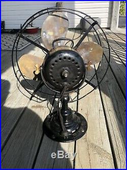 Antique Emerson Electric Fan Made For The Cutler Dry Kiln 16 Rare