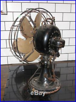 Antique Emerson Fan 24666 Brass Fan Brass Blade Runs Great