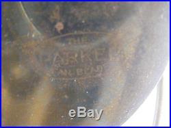 Antique Emerson Fan 4 Parker Style Brass Blades Pat. Sept. 12 1899 Type 14644