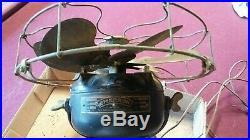 Antique Emerson Fan 6-Brass Blade 12-in, Model 17666 3-speed