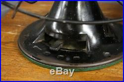 Antique Emerson Fan Industrial Black Oscillating 16 metal blades Vintage large