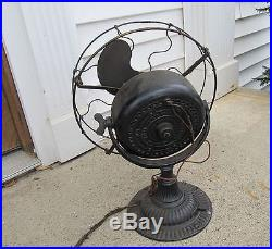 Antique Emerson Fan Type 1310 With Emerson Induction Motor Swivel Trunnion Base