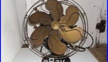 Antique Emerson Model 458781 Electric Fan six Brass Blades