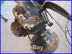 Antique Emerson Model 71666 Electric Fan 6 Brass Blades Parts or Restoration