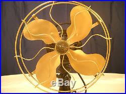 Antique Emerson Model 73646AK Three Speed Oscillating Electric Fan, Runs Well