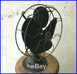 Antique Emerson Motors Electric Oscillating Fan 18 inch Art Deco 77646 AK WORKS