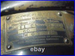Antique Emerson Oscillating Fan With Six Brass Blades. All Oriiginal