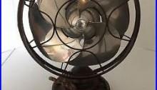 Antique Emerson Silver Swan Art Deco Electric Oscillating Fan