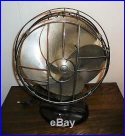Antique Emerson Silver Swan Vintage Oscillating Art Deco Electric Fan