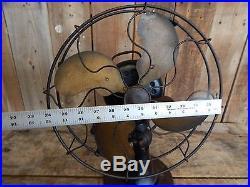 Antique Emerson Type 29646 Brass Blade Electric Fan Vintage Industrial Decor 258