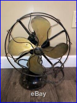 Antique Emerson type 29646 Three speed electric fan with Brass blades