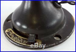 Antique Eskimo Brass Fan, 12 Oscillating 1920's Model 45 United Electrical Mfg