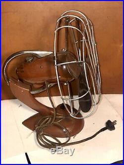 Antique Fitzgerald Rare Art Deco Shape Electric Fan 10 Cage