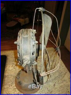 Antique GE12 fan 1901 pancake motor Type A Form D for restoration