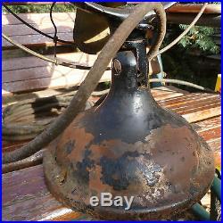 Antique GE 12 Brass Blade Fan Big Yoke Motor
